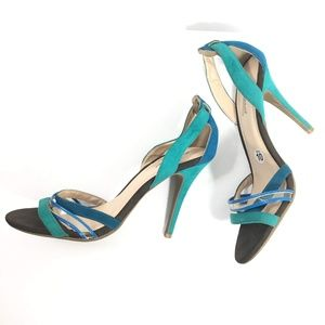 Anne Michelle Turquoise Heels